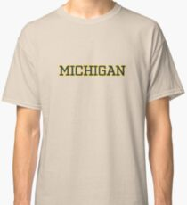 Michigan Athletic Letters Classic T-Shirt