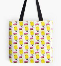Happy Pencil Tote Bag