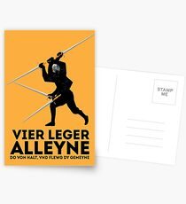Vier Leger Alleyne Postcards