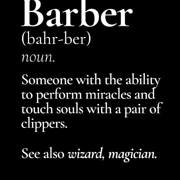 Barber Definition by Pointee