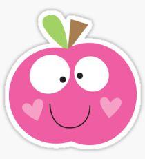 Happy Apple Pink Sticker