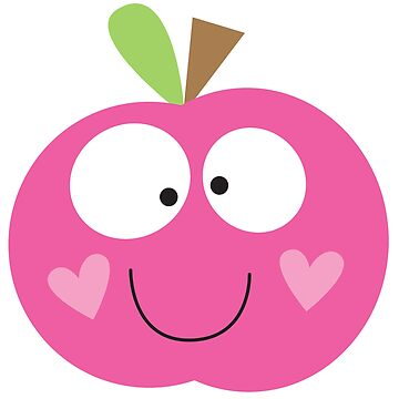Happy Apple Pink by fromthepond