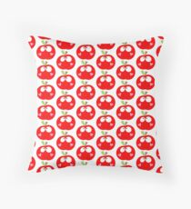 Happy Apple Red Throw Pillow