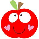 Happy Apple Red by fromthepond