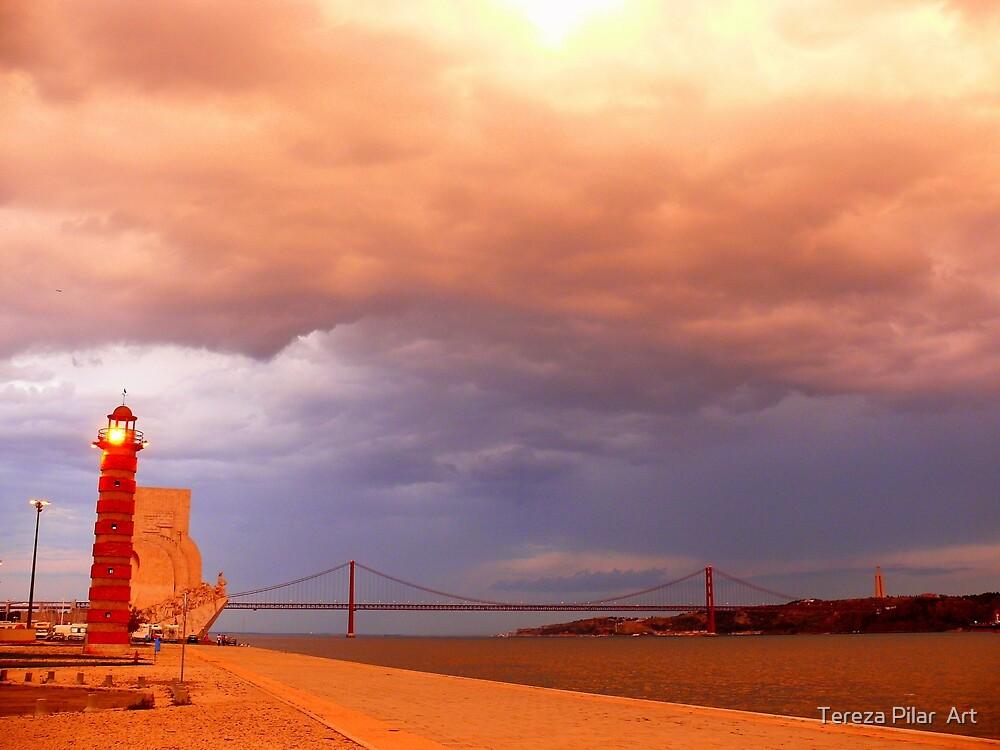 rain approaching. Rio Tejo. Lisboa by terezadelpilar ~ art & architecture