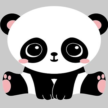 Cute Panda by MileHighTees