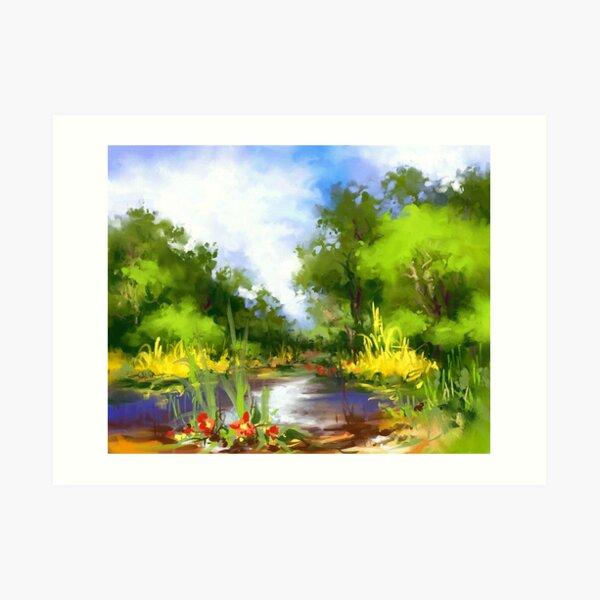 Summer lake  Art Print