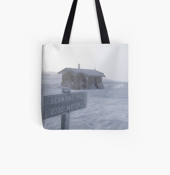 Seamans Hut All Over Print Tote Bag