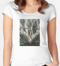 Sycamore Tree in Peppersauce Canyon, Arizona Women's Fitted Scoop T-Shirt