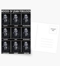 Postales Los estados de ánimo de Joan Ferguson