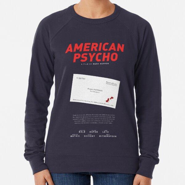 American Psycho - Bateman's blood-smeared business card Lightweight Sweatshirt
