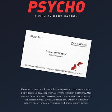 American Psycho - Bateman's blood-smeared business card by PFordy4D