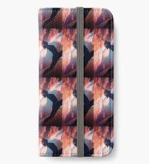 Yoga pilates analog film 35mm double exposure nature clouds photo iPhone Wallet/Case/Skin