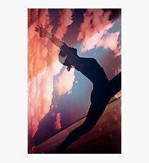 Yoga pilates analog film 35mm double exposure nature clouds photo Photographic Print