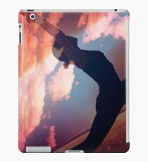 Yoga pilates analog film 35mm double exposure nature clouds photo iPad Case/Skin