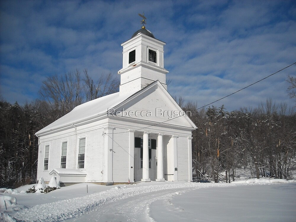 The First Congregational Church at the Old Winchendon Center by Rebecca Bryson