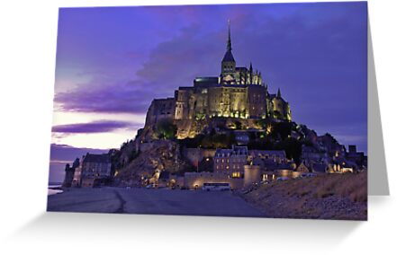 Mont St. Michel after sunset by Adri  Padmos
