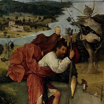 Saint Christopher Carrying the Christ Child - Hieronymus Bosch by themasters