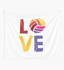 Volleyball Design - Love Wall Tapestry