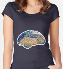 brain map Women's Fitted Scoop T-Shirt
