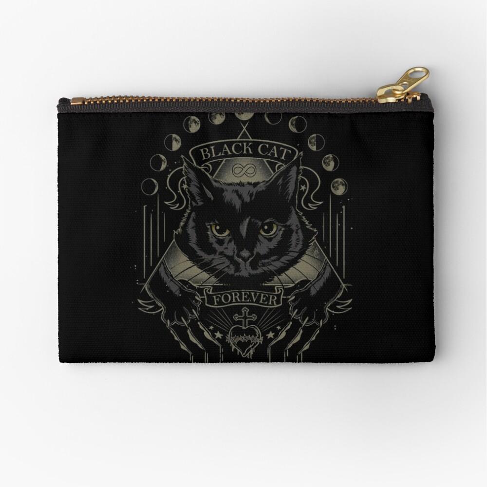 Schwarze Katze Kult Täschchen