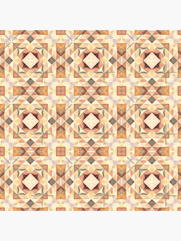 Autumnal Gold Pattern by perkinsdesigns