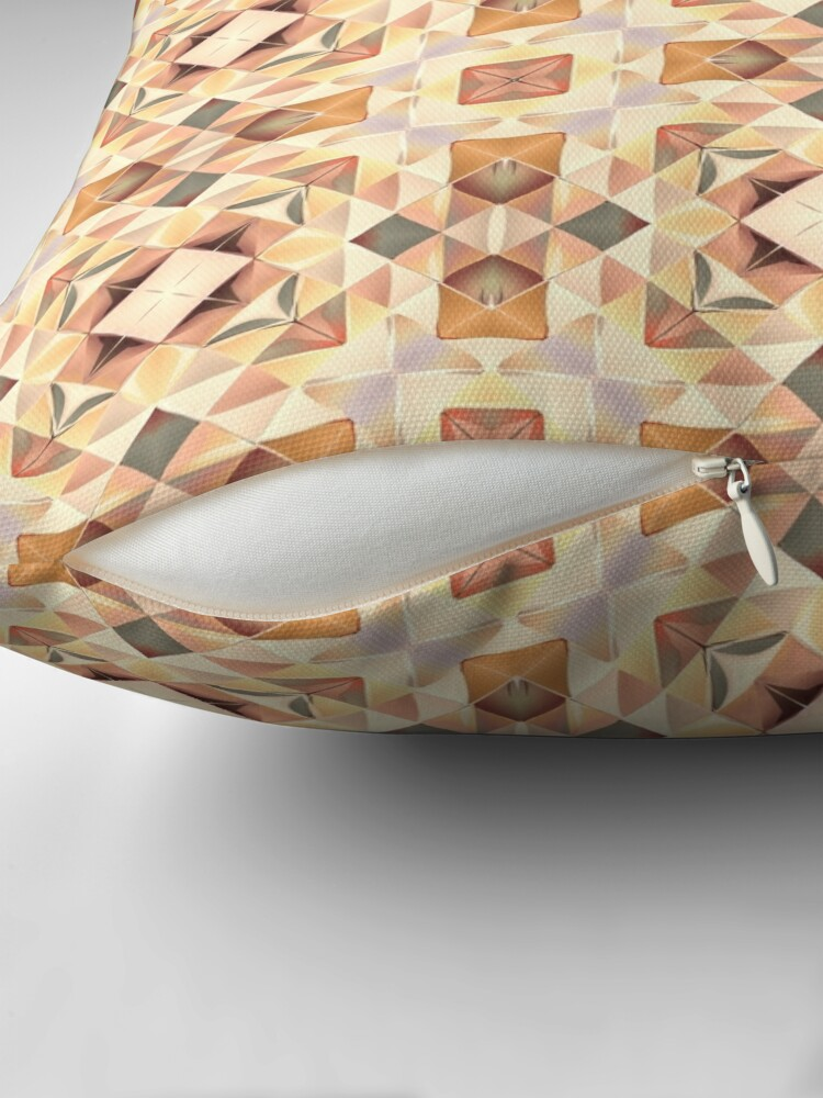 Alternate view of Autumnal Gold Pattern Throw Pillow