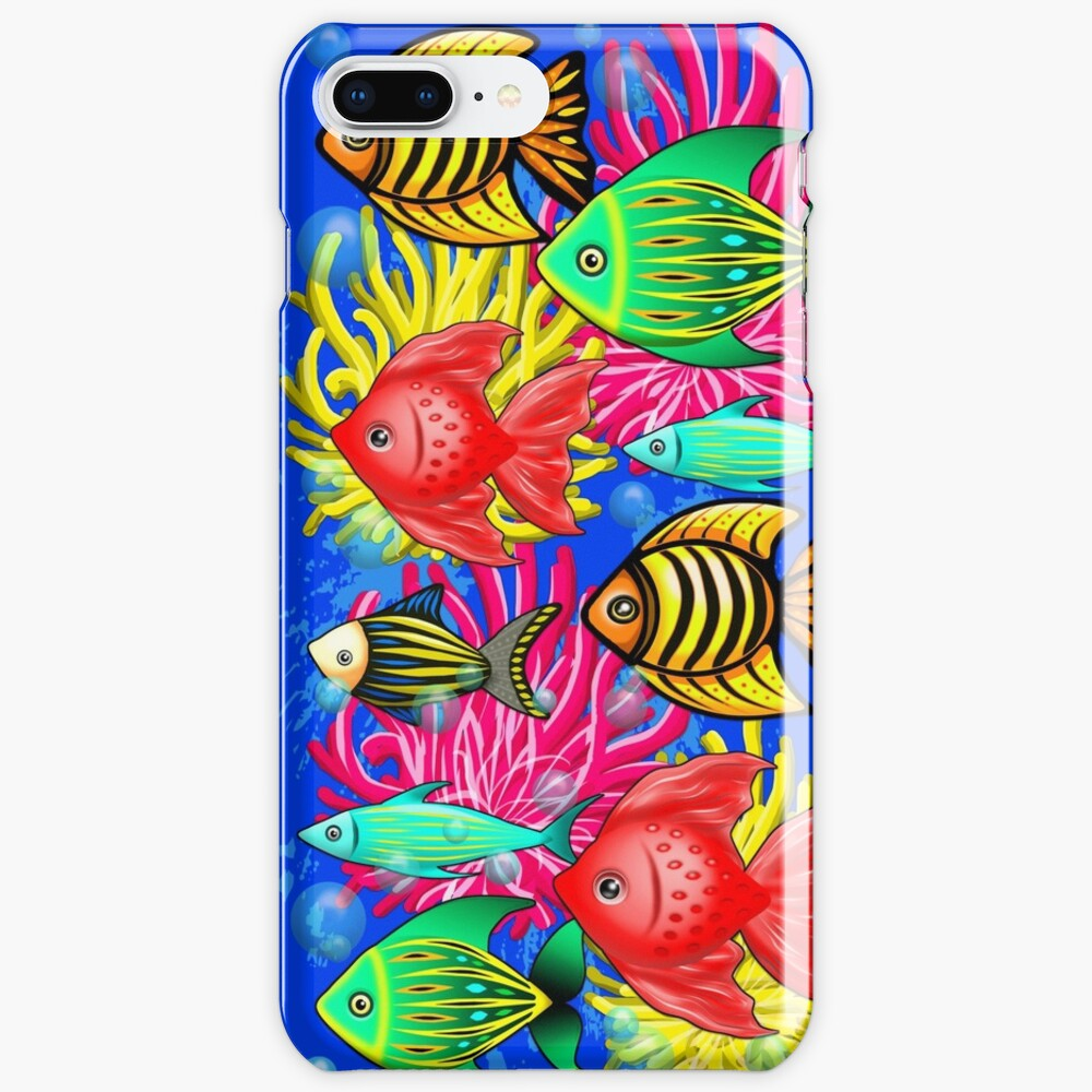 Fish Cute Colorful Doodles  iPhone Case & Cover