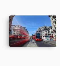 The hustle and bustle of Oxford Circus Canvas Print