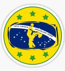 lets dance brazilian zouk flag color design Sticker