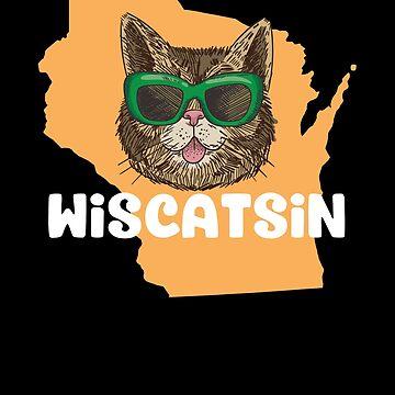 Wiscatsin (Wisconsin) Funny Cat Pun by Jockeybox