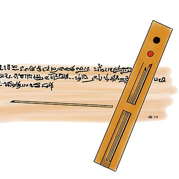 Ancient Egyptian Scribe's Palette by Leenasart