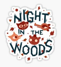 Night in the Woods - all characters night version Sticker