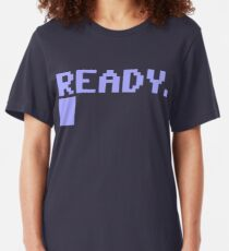 Ready Commodore 64 Slim Fit T-Shirt
