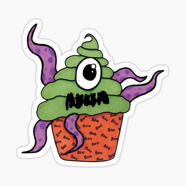 Cupcake Monster Sticker