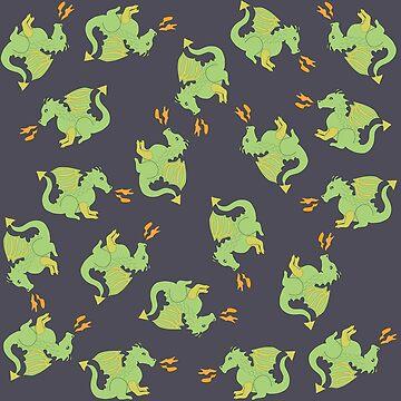 Cute but ferocious dragons by critterandposie