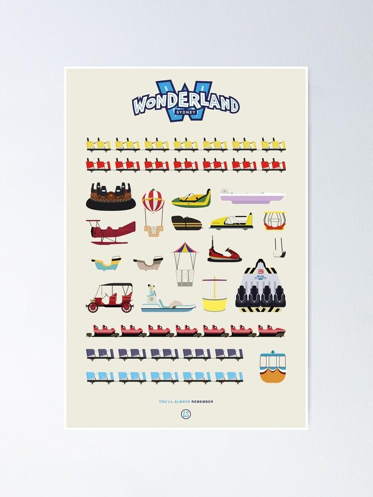 Alternate view of Wonderland Sydney - Ride Poster Poster