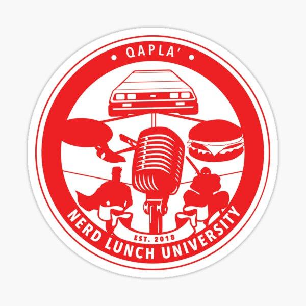 Nerd Lunch University Seal Sticker