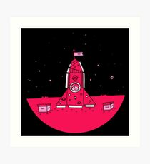Make Believe Rocket Art Print