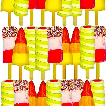 Ice Lolly Pattern with Fab, Rocket and Twister Lollies by markstones