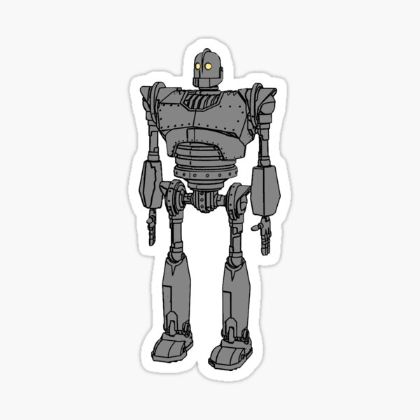 Iron Giant Drawing Sketch Style Abstract Sticker