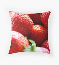 Mmmmm!! Strawberrys Throw Pillow