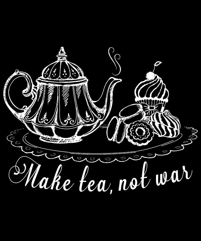 Make Tea Not War,Fancy Teapot,Lovers Tank Top