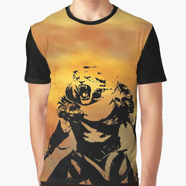 Magic Planeswalker  Profile - Ajani Goldmane - Abstract Graphic T-Shirt