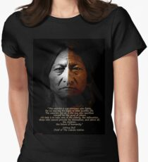 Sitting Bull Warrior quote. Poster Women's Fitted T-Shirt