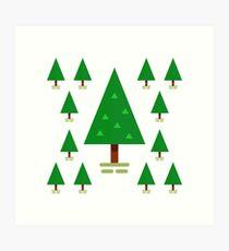 Tannenbäume Kunstdruck