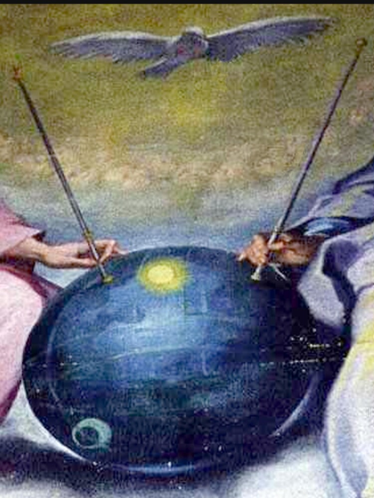 UFOs, in Ancient Art, Detail from; DETAIL; Disputa of the Eucharist, Celestial sphere, Sputnik satellite? by TOMSREDBUBBLE