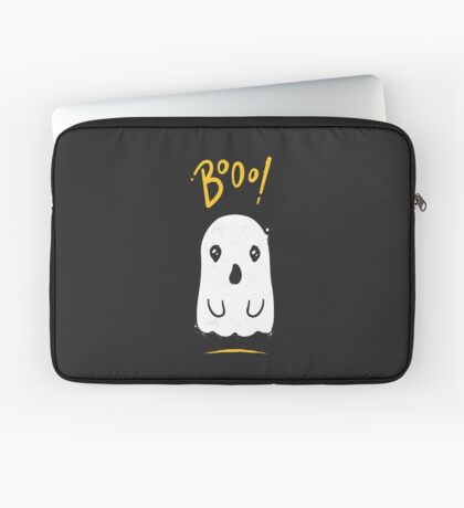 Boo, Cute and Scary Halloween Ghost Laptop Sleeve