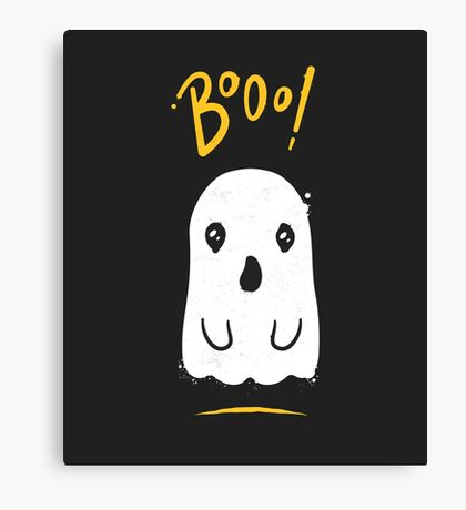 Boo, Cute and Scary Halloween Ghost Canvas Print
