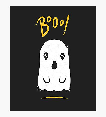Boo, Cute and Scary Halloween Ghost Photographic Print